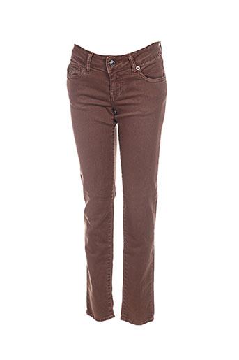 Pantalon casual marron FIVE pour femme