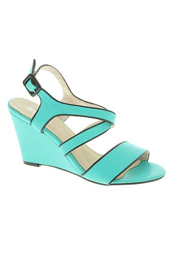 moow chaussures femme de couleur bleu
