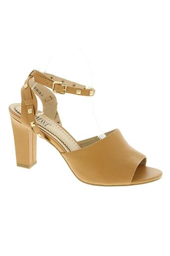 les secrets de vanessa chaussures femme de couleur beige
