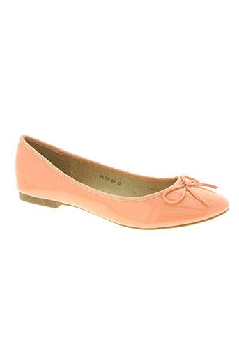 les secrets de vanessa chaussures femme de couleur orange