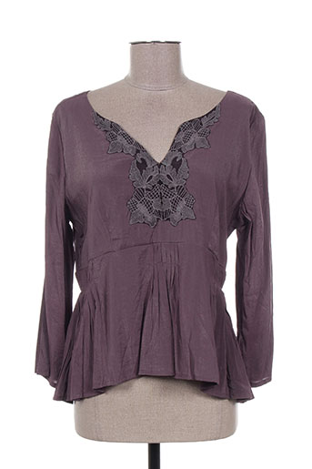 bohemia chemises femme de couleur violet
