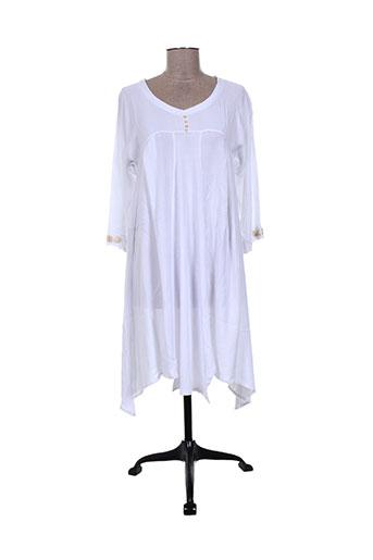 Tunique manches longues blanc BATISTAME pour femme