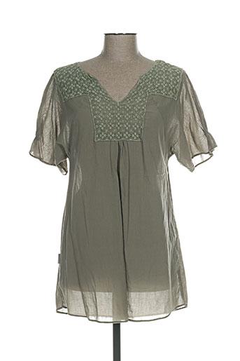 bohemia chemises femme de couleur vert