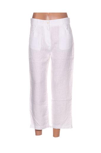 lucchini pantacourts femme de couleur blanc