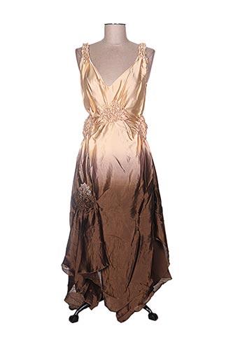 serena kay robes femme de couleur marron