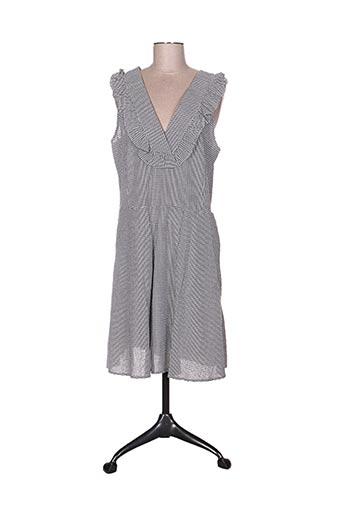 Robe mi-longue noir BEAURIVAGE pour femme