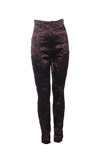 Pantalon casual marron CLAUDE BARTHELEMY pour femme