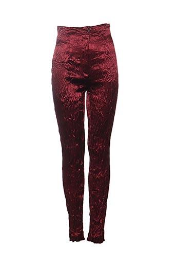Pantalon casual rouge CLAUDE BARTHELEMY pour femme