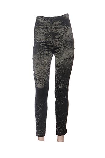 Pantalon casual vert CLAUDE BARTHELEMY pour femme