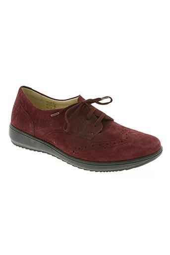 goldkrone chaussures femme de couleur rouge