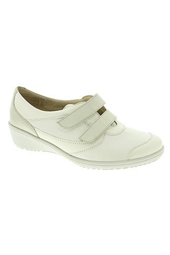 goldkrone chaussures femme de couleur blanc