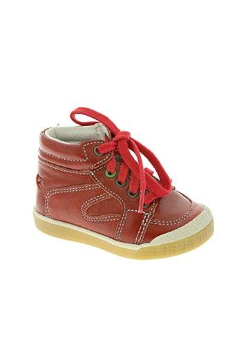 babybotte chaussures garçon de couleur rouge