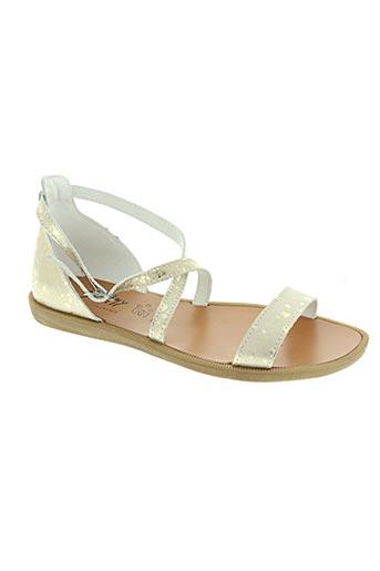 bellamy chaussures fille de couleur jaune