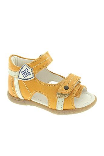 noël chaussures garçon de couleur jaune