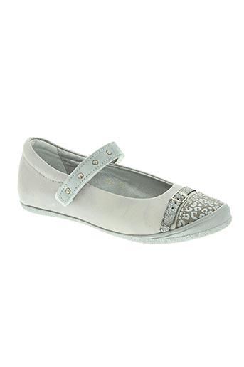 le loup blanc chaussures fille de couleur gris