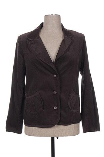 Veste chic / Blazer marron BEVERLY pour femme