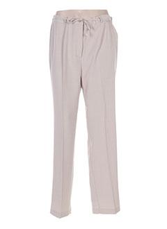 Pantalon chic beige BRIGITTE SAGET pour femme