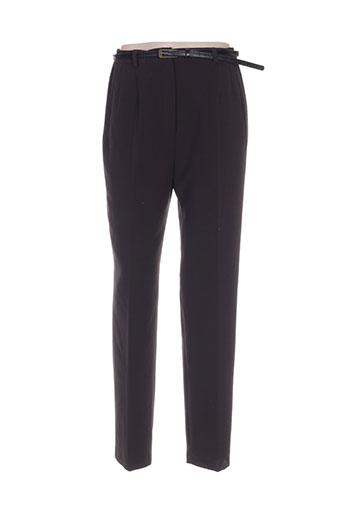 manadour pantalons femme de couleur marron