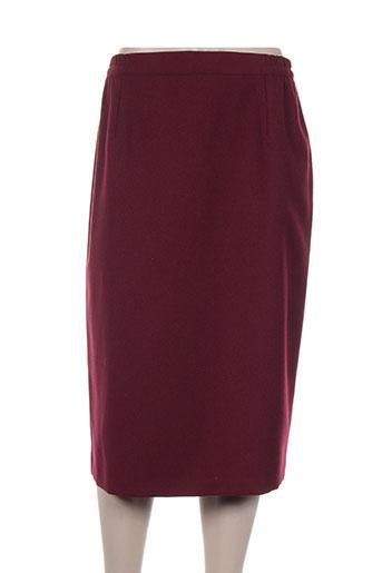 manadour jupes femme de couleur rouge