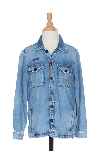 pepe jeans vestes garçon de couleur bleu