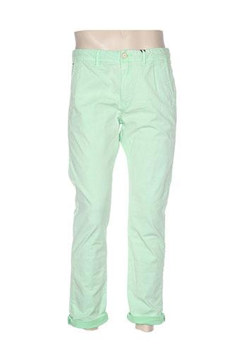 Pantalon casual vert SCOTCH & SODA pour femme