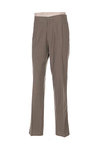 gianni marco pantalons homme de couleur marron