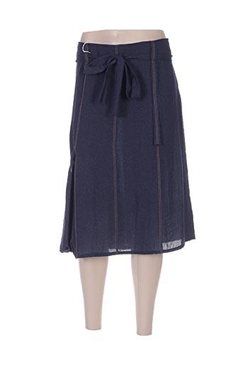 manadour jupes femme de couleur bleu