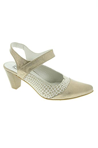 inea chaussures femme de couleur beige