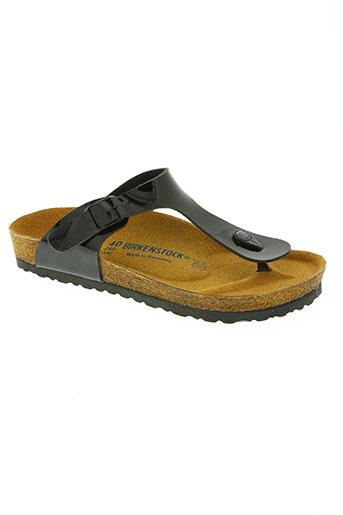 birkenstock chaussures femme de couleur noir