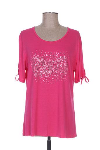 fafa mod t-shirts femme de couleur rose