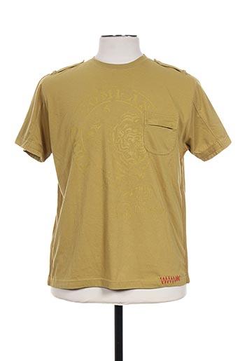 massana t-shirts homme de couleur vert