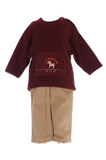 Pull/pantalon marron MINOUFLET pour enfant