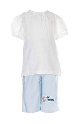 Top/pantalon blanc KITI WATT pour fille