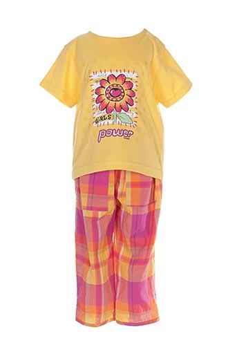 Top/pantalon jaune MINOUFLET pour fille