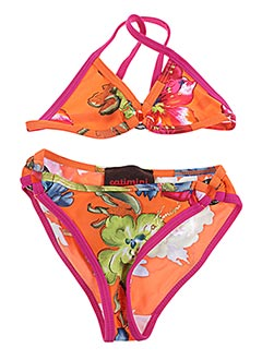 Maillot de bain 2 pièces orange CATIMINI pour fille
