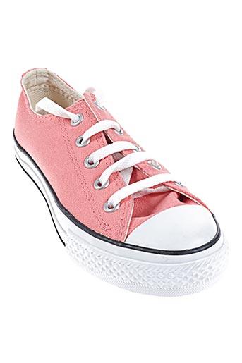 converse chaussures fille de couleur orange