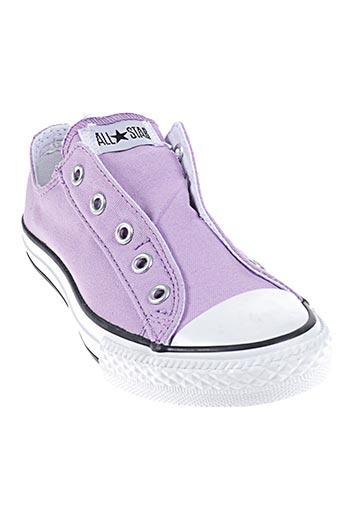converse chaussures fille de couleur violet