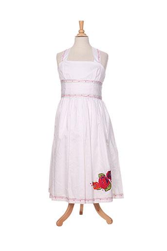 kenzo robes fille de couleur blanc