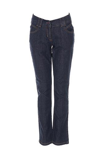kenzo jeans fille de couleur bleu