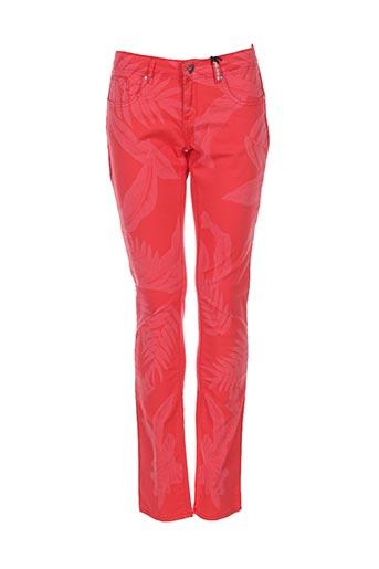 ikks pantalons fille de couleur rouge