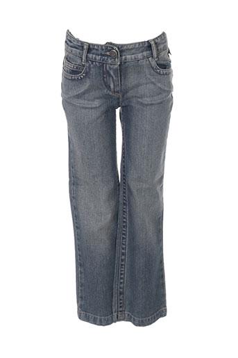 jean bourget jeans fille de couleur bleu