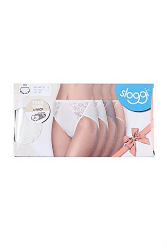 sloggi lingerie femme de couleur blanc