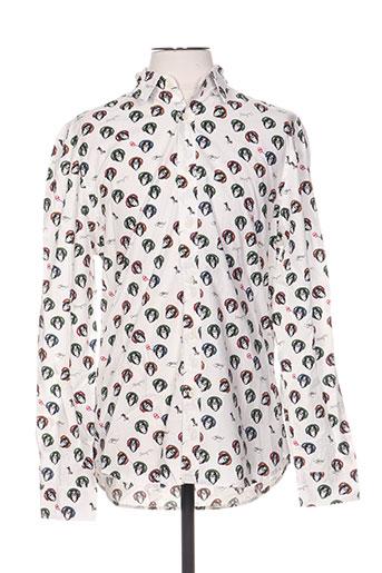 Chemise manches longues blanc DESIGUAL pour homme