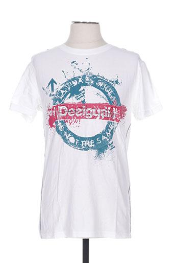 T-shirt manches courtes blanc DESIGUAL pour homme