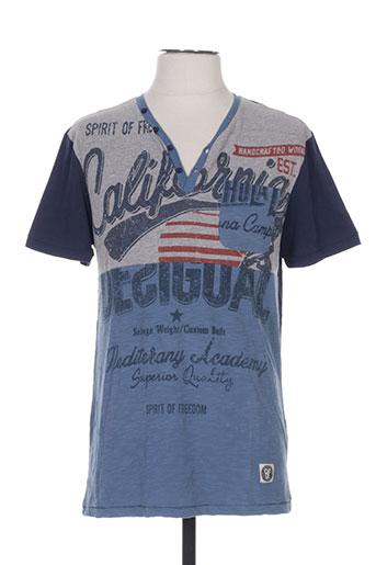 T-shirt manches courtes bleu DESIGUAL pour homme