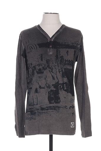 T-shirt manches longues gris DESIGUAL pour homme
