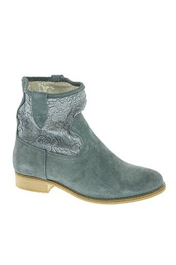 naf naf chaussures femme de couleur bleu