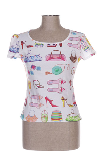 gallice t-shirts femme de couleur blanc