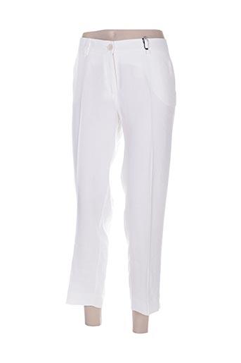 cristina effe pantalons femme de couleur blanc