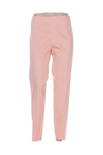 Pantalon 7/8 orange CRISTINA EFFE pour femme